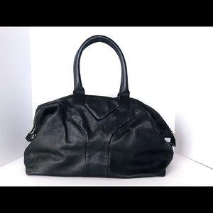 YSL Yves Saint Laurent Black Leather Shoulder Bag
